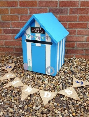 Beach Hut Wedding Post Box Hire
